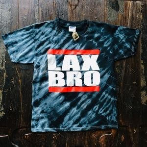 LAX BRO Tie Dye Lacrosse T-Shirt YOUTH LARGE NEW